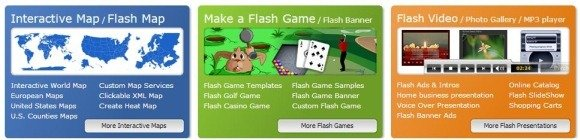 4Flash - flash templates for games, maps and presentations