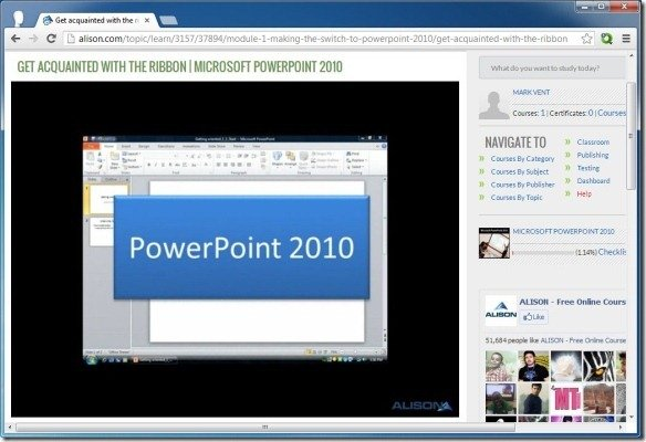 alison provides free online training for powerpoint and