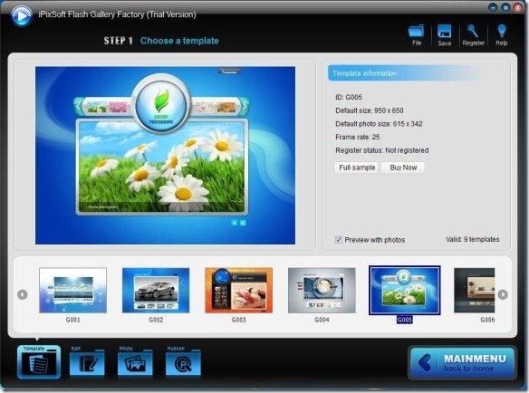 Create Flash Presentations Using iPixSoft Flash Gallery Factory