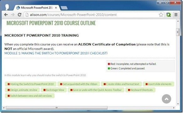 Alison provides free online training for powerpoint and workplace skills get alison certificate of completion after you complete training yelopaper Image collections