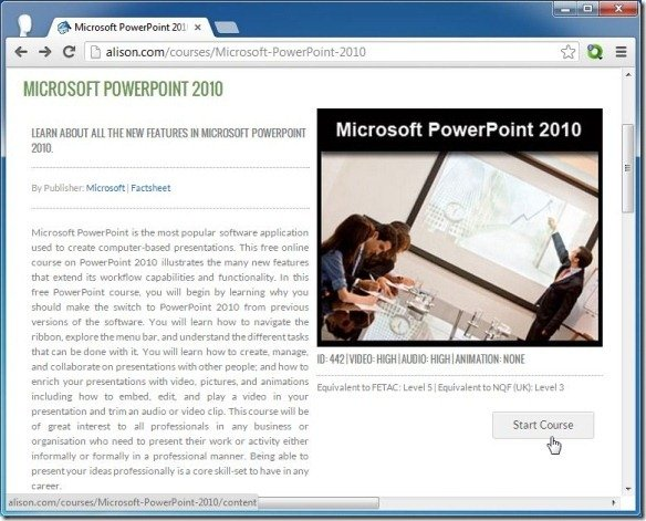 Alison provides free online training for powerpoint and workplace skills microsoft powerpoint 2010 training yelopaper Image collections