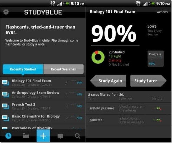 you can access studyblue online or use the mobile apps the android version of studyblue works with devices running android version 16 and up