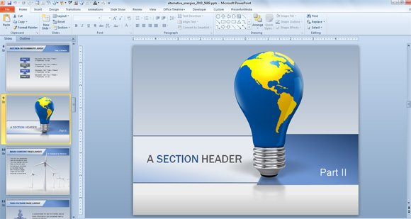 renewable energy powerpoint template free animated