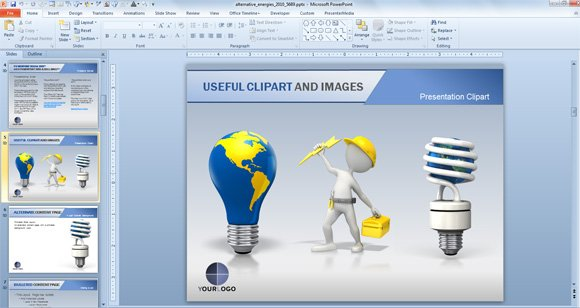 Animated Powerpoint Templates For Presentations On Renewable Energies