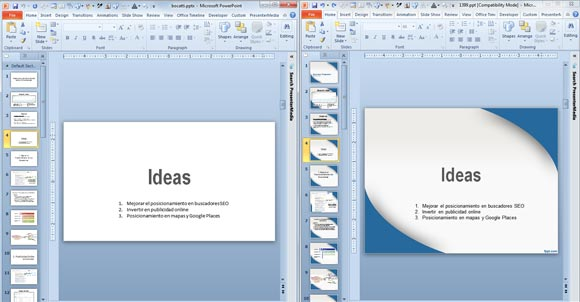 applying a template to powerpoint presentation, Modern powerpoint