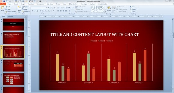 Free Radial Lines Template for PowerPoint 2013