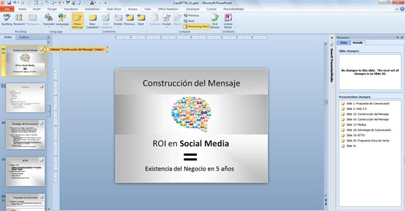 Compare and Merge Presentations in PowerPoint 2010