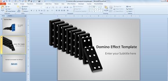 Free domino effect powerpoint template domino effect toneelgroepblik Choice Image