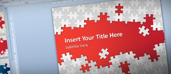 free puzzle pieces powerpoint template for presentations, Modern powerpoint