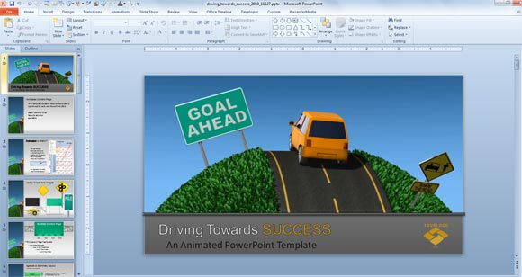 Traffic road templates for powerpoint presentations road template powerpoint toneelgroepblik Choice Image