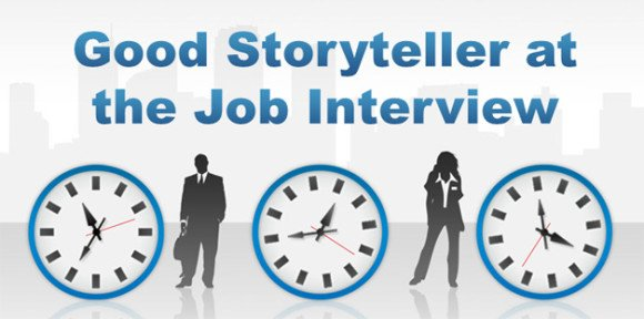 to be a good storyteller at the job interview, Powerpoint templates