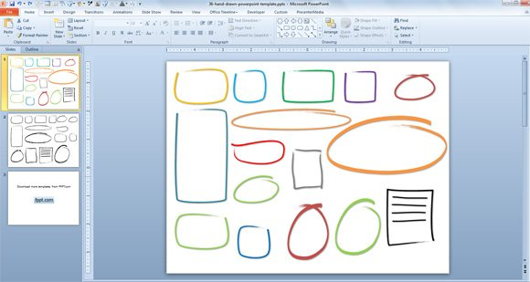 Drawing Lines In Powerpoint : Free hand drawn callouts graphics for powerpoint