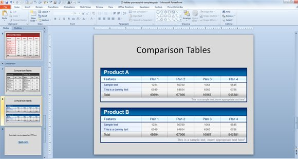 Free comparison tables template for powerpoint presentations comparison powerpoint template toneelgroepblik Choice Image