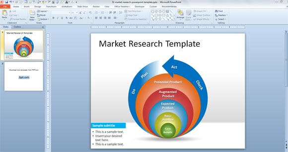 free market research powerpoint template, Modern powerpoint