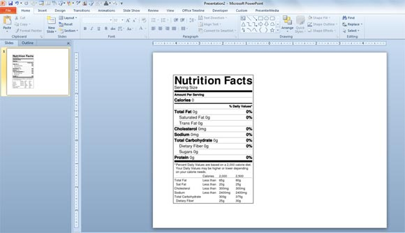 how to make a nutrition facts label for free for your nutrition, Modern powerpoint