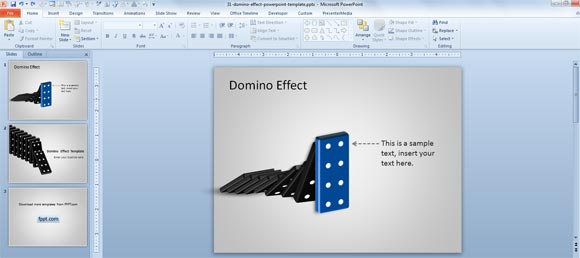 domino ppt template
