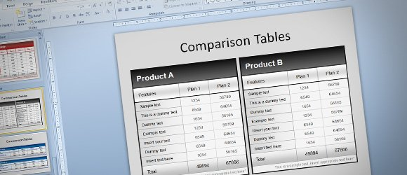 Free Comparison Tables Template for PowerPoint Presentations