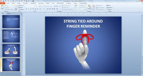 free reminder string finger powerpoint