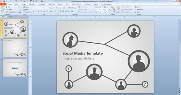 Free social media template for powerpoint presentations free social media management powerpoint template toneelgroepblik Image collections