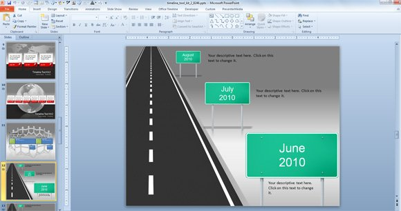 Awesome Timeline Charts Template For PowerPoint Presentations - Free roadmap timeline template