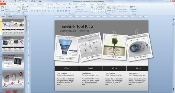 awesome timeline charts template for powerpoint presentations