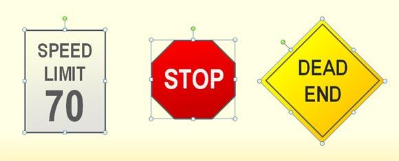 traffic symbols powerpoint