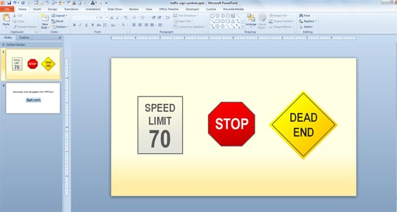 Construction signs traffic signs powerpoint slides and ppt diagram.