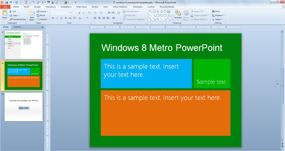 Free windows 8 metro powerpoint template toneelgroepblik Choice Image