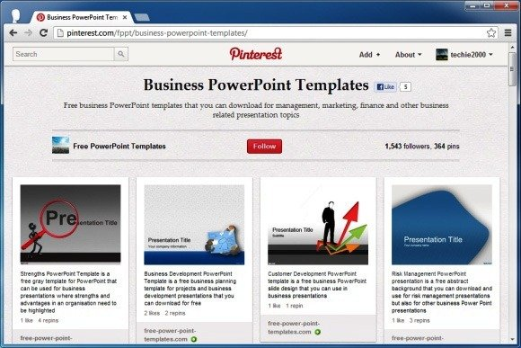 Using pinterest to find free powerpoint templates and inspirational using pinterest for finding free powerpoint templates and diagrams toneelgroepblik Images