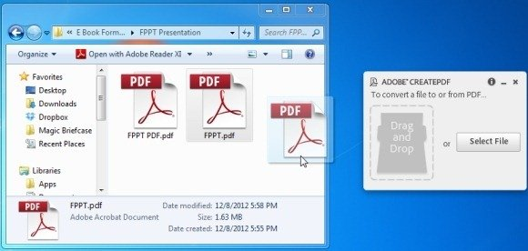 CreatePDF Desktop Application