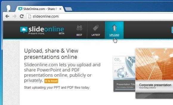 Share PowerPoint Presentations Using SlideOnline