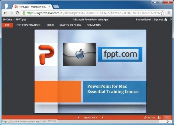 view edit and share presentations online using powerpoint web app