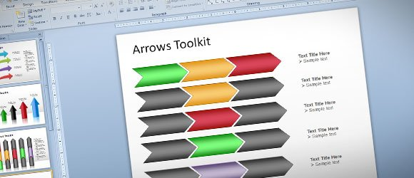 Free Arrows Toolkit for PowerPoint Presentations