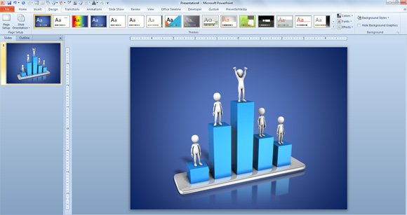 Awesome 3d animated charts for business presentations success chart powerpoint toneelgroepblik Image collections