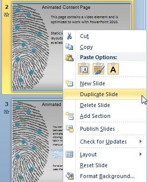 duplicate slide powerpoint 2010