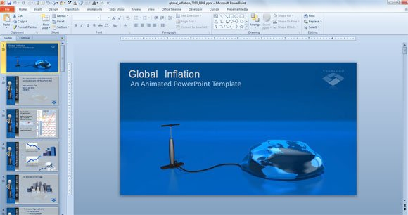 4 examples of awesome professional powerpoint templates for business global inflation powerpoint template toneelgroepblik Image collections