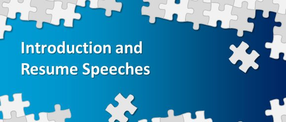 new methods of introduction and resume speeches