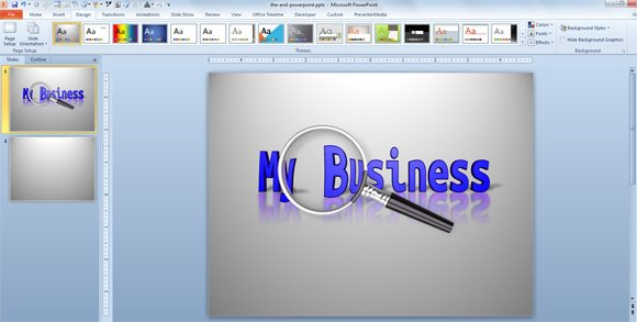 Make a Magnify Text Illustration Online for PowerPoint Presentations