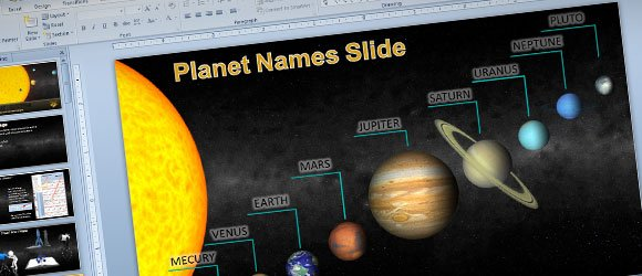 Animated solar system powerpoint template for science astronomy planet powerpoint template toneelgroepblik Choice Image