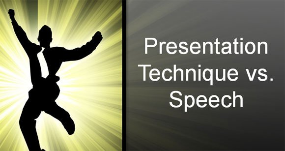 Differences and Similarities between a Presentation Technique and Speech