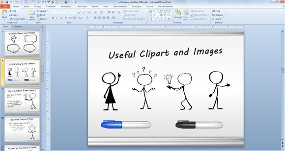 awesome whiteboard symbols powerpoint templates for presentations, Presentation templates