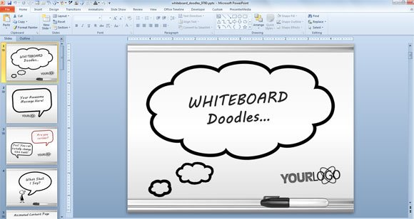 awesome whiteboard symbols powerpoint templates for presentations