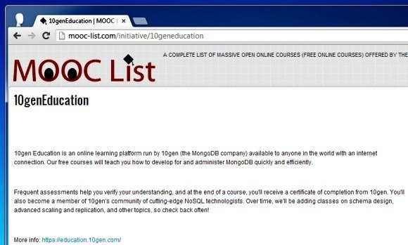 10genEducation  MOOC List Course
