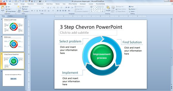 free 3 step chevron powerpoint template