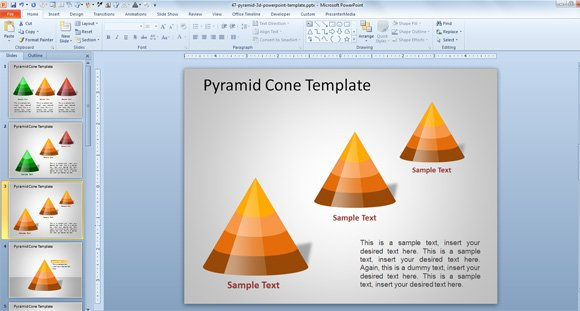 3d pyramid powerpoint