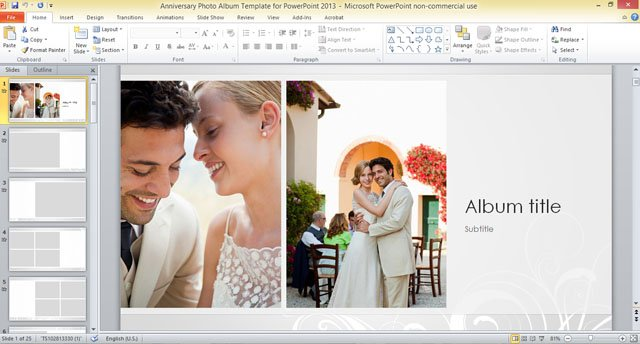 Photo album anniversary photo album template for powerpoint 2013 toneelgroepblik Choice Image