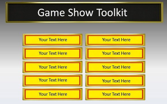 game show toolkit for powerpoint presentations, Modern powerpoint
