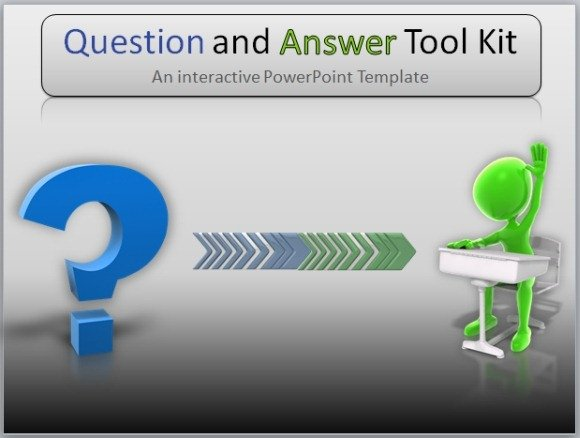Question And Answer Toolkit Template For Powerpoint Presentations