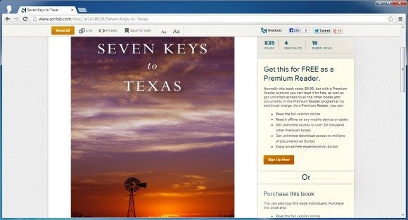 Sell e-books at scribd
