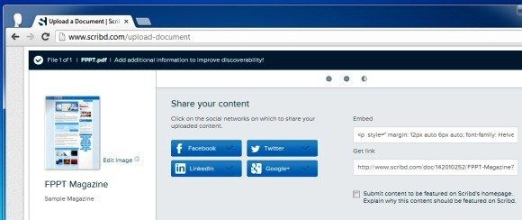 Share Digital Content on Scribd
